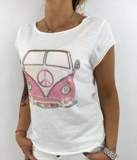 Bluzka autobus róż