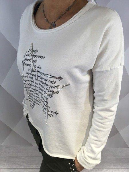 Bluza biała z gwiazdą