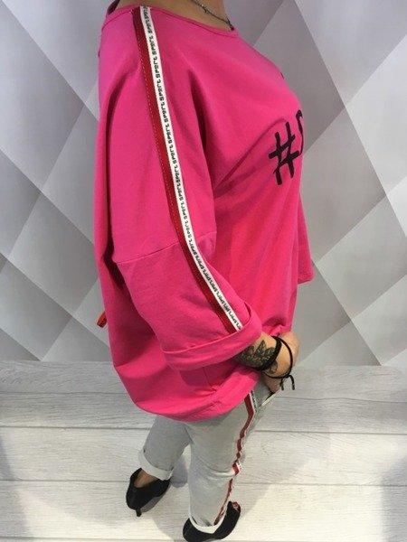 Bluza z lampasem róż