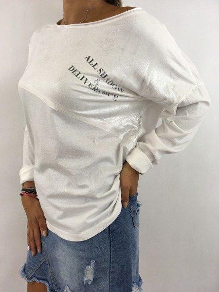 Bluzka biała napis
