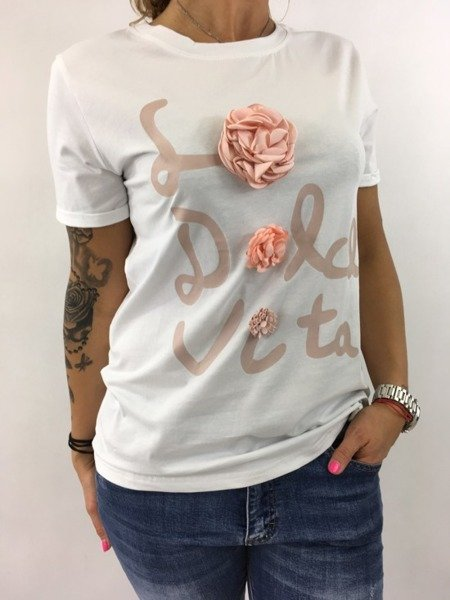 Bluzka róze biała