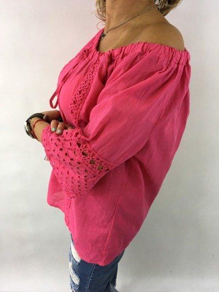 Bluzka różowa hiszpanka.