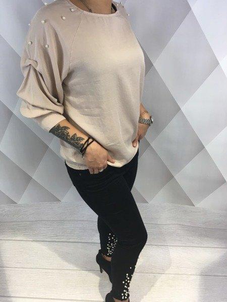 Bluzka różowa rękaw perły