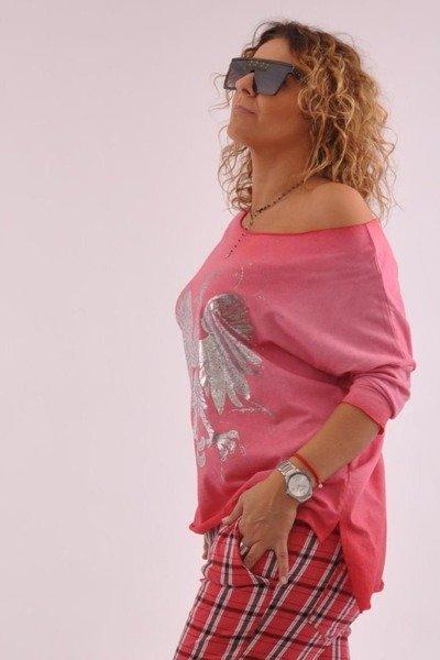 Bluzka różowa z orłem