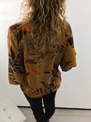 Bluzka świateczna miodowa wzór