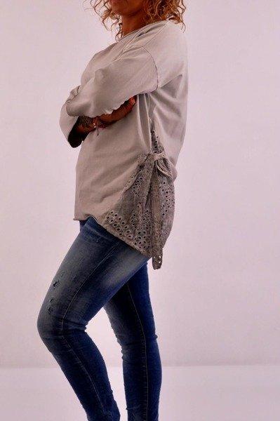 Bluzka szara wiązana gipiura