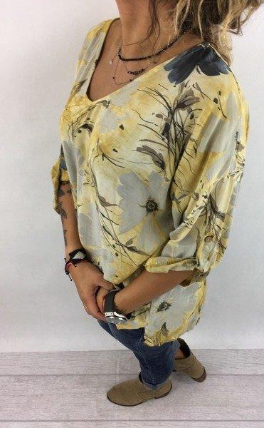 Bluzka żółta w kwiaty