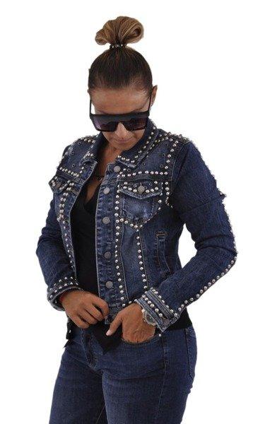 Jeansowa kurtka z ćwiekami M