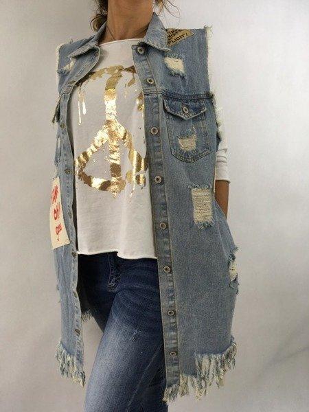 Kamizelka jeansowa S/M.