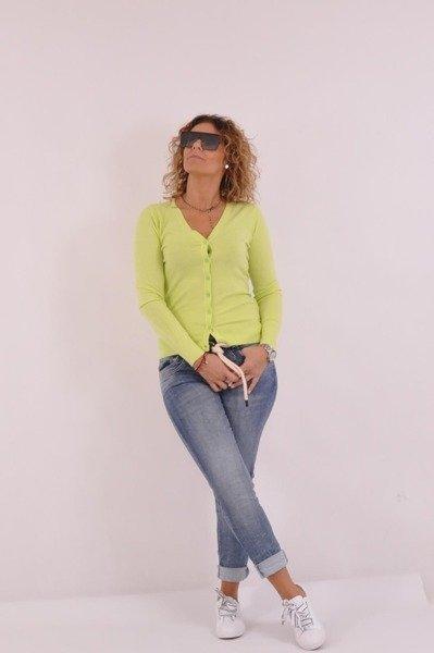 Klasyczny zielony sweterek na guziczki
