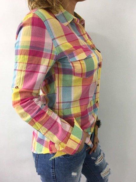 Koszula krata żółta