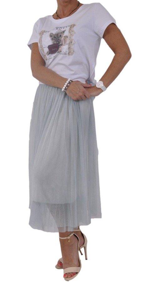 Spódnica tiulowa błękit
