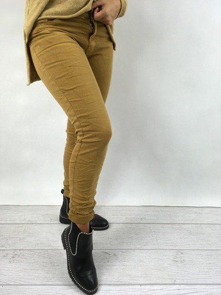 Spodnie miodowe L