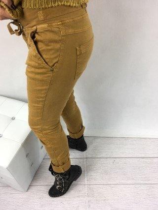 Spodnie miodowe wiązane S
