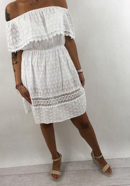 Sukienka biała Boho