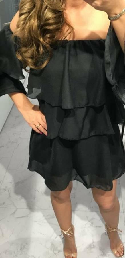 Sukienka czarna hiszpanka