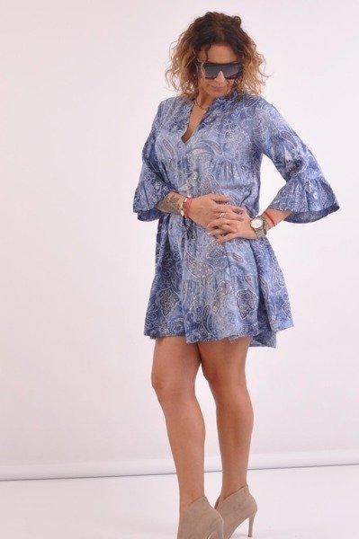 Sukienka-niebieska-wzór