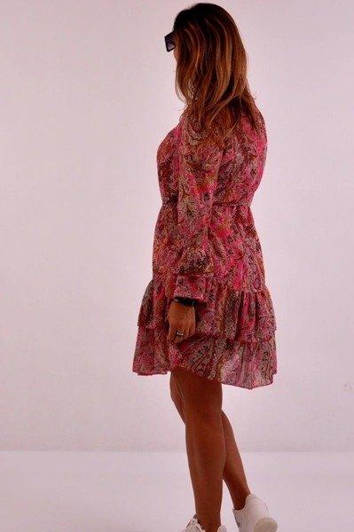 Sukienka róż wzór