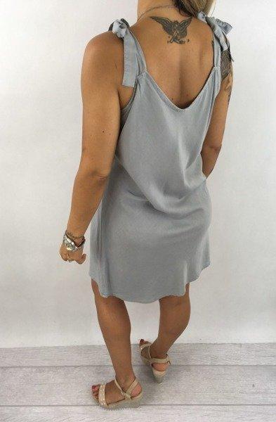 Sukienka szara wiązana