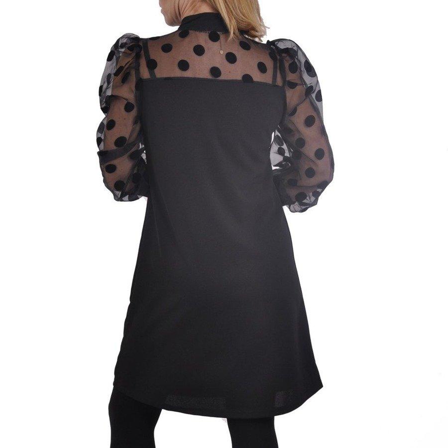Sukienka tiulowe rękawy