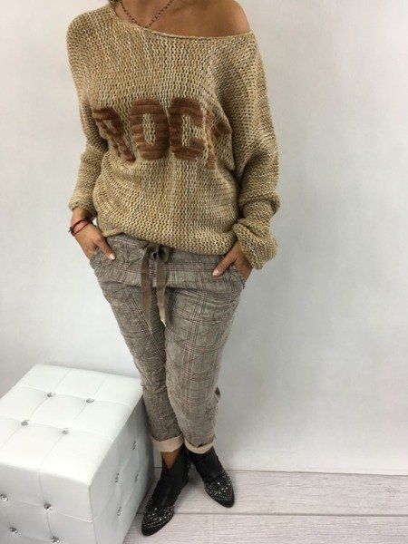 Sweter beż ROCK