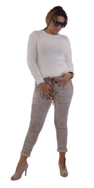 Sweter kremowy z włosem