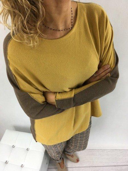 Sweter miodowobrązowy