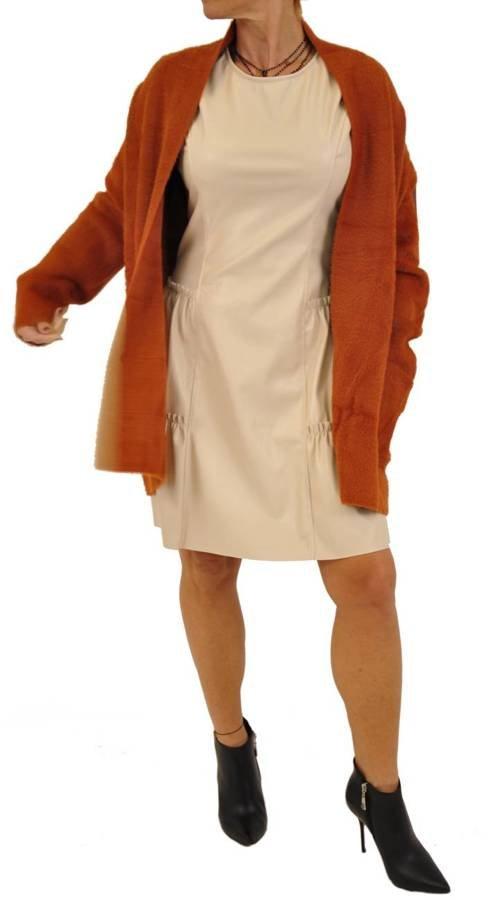 Sweter narzuta alpaka ruda L/XL