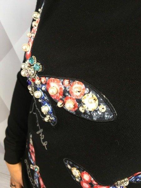 Sweter w motyle czarny