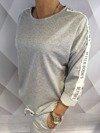 Bluza z lampasem szara