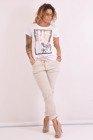 Bluzka biała z nadrukiem You Love Me