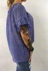 Bluzka niebieska hiszpanka z piórkiem.