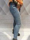 Jeansy z perłami XL.