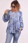 Niebieska bluzka we wzór