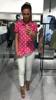 Przepiękna różowa koszula w kropki z torebką