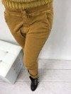 Spodnie miodowe wiązane w pasie M